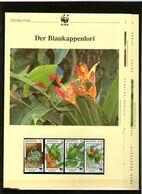 1998 Niuafo`ou  WWF Blaukappenlori/Blue-crowned Lorikeet 4 ** + 3 Blätter Beschreibung Englisch - Neufs