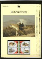 2001 Palästina/Palestine WWF Kragentrappe/Houbara Bustard 4 ** + 3 Blätter Beschreibung - Neufs