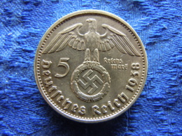 GERMANY 5 MARK 1938A, KM94 - [ 4] 1933-1945 : Third Reich