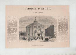Cirque D'Hiver Et Ses Abords Notre Dame De Lorette  Paris  1879 - Unclassified