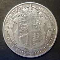 Grande Bretagne - Royaume Uni Pièce De Monnaie 1/2 Crown 1914 Argent - 1902-1971 : Monete Post-Vittoriane