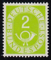 123 Posthorn 2 Pf ** Postfrisch - [7] Federal Republic