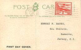 Jersey 4 Ersttagstempel Auf Ansichtskarte - Besetzungen 1938-45