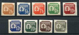 Slovakei 54/65 ** 9 Werte - Ungebraucht