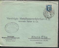 IRAQ 1931 Cover Sent To Altona-Elbe 1 Stamp COVER USED - Irak