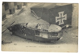 """BALLON DIRIGEABLE - AUX INVALIDES - Accessoires Du Zeppelin """"L.-49"""" - Ed. E. L. D. - Airships"""