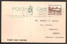 Jersey 5 Auf Anischtskarte Mit Ersttagstempel - Besetzungen 1938-45
