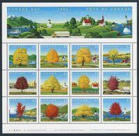 Canada 1994 Mi 1423 /34 (Zd-Bogen) SG 1597 /08 ** 12 Different Maple Trees (Acer) / 12 Ahornbäume - Canada Day - Trees
