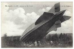 """BALLON DIRIGEABLE - Le Zeppelin """"L.-49"""", Capturé Par Les Français - Aeronaves"""