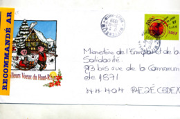 Pap An 2000 Recommandée  Cachet Wittenheim Illustré Voeux - Postal Stamped Stationery