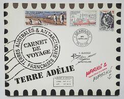 CARNET DE VOYAGE - TAAF - TERRE ADELIE - 2001 - CROQUIS/AQUARELLE : SERGE MARKO - 28 TIMBRES - ETE AUSTRAL 2000 - Carnets