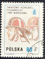 Polska - Poland - P2/46 - (°)used - 1989 - Michel Nr. 3212 - Congres Brandbestrijding - Used Stamps