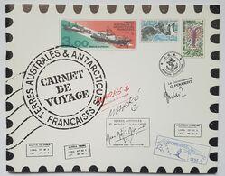 """CARNET DE VOYAGE - TAAF - 1999 - 12 TIMBRES - CROQUIS AQUARELLES DE SERGE MARKO - ROTATION """"MARION DUFRESNE - 1998 - Carnets"""