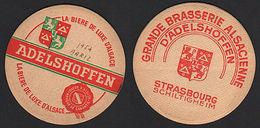 OLD BEER COASTER 1954 ADELSHOFFEN ALSACE FRANCE POSAVASOS CC008 - Posavasos (Portavasos)