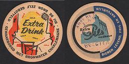 OLD COASTER YEARS 1950-60 EXTRA DRINK COLA BELGIUM  POSAVASOS CC006 - Posavasos (Portavasos)