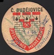 OLD BEER COASTER 1967 CZECH BUDEJOVICE POSAVASOS CC004 - Posavasos (Portavasos)