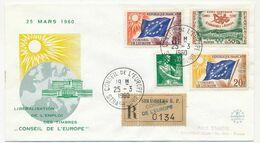 FRANCE - Env Format FDC - 8F, 20F Drapeau + 0,50 Cannes + 0,10 Moisonneuse - Recommandée - Libéralisation TP Conseil - Lettres & Documents