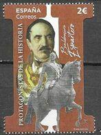 SPAIN, 2020,  MNH,HISTORY, PROTAGONISTS OF HISTORY, BALDOMERO ESPARTERO,HORSES, STATUES,1v - Otros