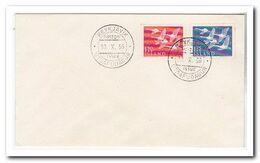 1956, FDC Unwritten, Birds, Europe - FDC