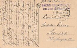 """D.Feldpost / 1917 / AK L2 """"LEICHTE MUN.K.-DEUTSCHE FELDPOST 408"""", Stegstempel """"K.D.Feldpost"""" (A269) - Alemania"""