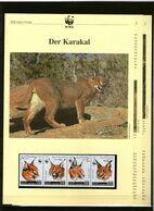 1998 Somalia WWF Karakal/Caracal 4 ** + 3 Blätter Beschreibung - Neufs