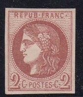 FRANCE - N° YT 40B - Gomme Partielle - Signé ROUMET - 1870 Ausgabe Bordeaux