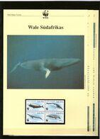 1998 Südafrika/South Africa WWF Wale/Whales 4 ** + 3 Blätter Beschreibung - Neufs