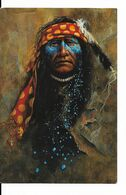 Indien - Night Traveler - Illustration De Mark Rohrig - Galerie Inipi - CPSM Non Circulée N° 811 - Indiani Dell'America Del Nord