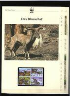 2005 Tadschikistan/Tajikistan WWF Blauschaf/Bharal 4 ** + 3 Blätter Beschreibung - Neufs