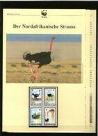 1996 Tschad/Chad WWF Nordafrikanische Strauss/North-African Ostrich 4 ** + 3 Blätter Beschreibung - Neufs