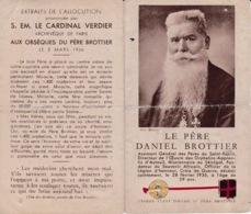 Carte Faire-Part De Décés, Père Brottier Daniel, 59 Ans - Obituary Notices