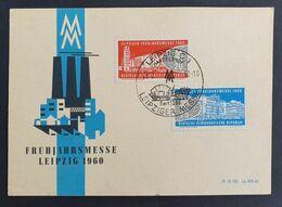 DDR 1960, Gedenkblatt LEIBZIG Frühjahrsmesse Mi 750-51 - Covers & Documents