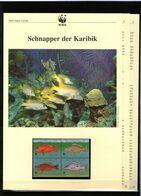 1998 Turks& Caicos-Inseln WWF Schnapper Der Karibik/Snappers 4 ** + 3 Blätter Beschreibung - Neufs