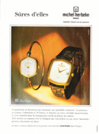 """PUB MONTRES """" """" MICHEL HERBELIN """" 1980 ( 1 ) - Juwelen & Horloges"""