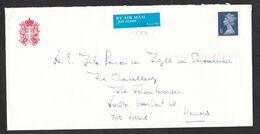 UK: Airmail Cover To Netherlands, 2001, Sent By Military Order Of Malta, Letter Enclosed, Letterhead (stamp Damaged) - 1952-.... (Elizabeth II)