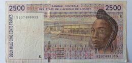 États De L'Afrique De L'Ouest, 2500 Francs - West African States