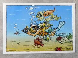 Aquacard , Humour, Sport ,  Plongée Sous-marine , Illustrateur Champol , Photographe - Humor