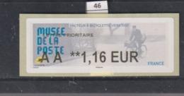 **** Musée De La Poste Facteur à Bicyclette Ers 1950 (46)  25/45 - 2010-... Illustrated Franking Labels