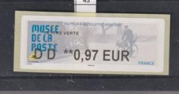 **** Musée De La Poste Facteur à Bicyclette Ers 1950   (45)  25/45 - 2010-... Illustrated Franking Labels