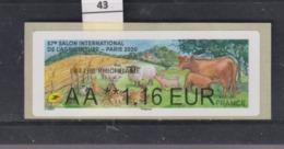 **** 57e Salon Internationnal De L'agriculture Paris 2020   (43)  25/45 - 2010-... Illustrated Franking Labels