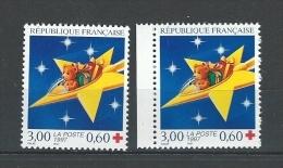 "FR YT 3122 & 3122a "" Croix-Rouge, 2 Dentelures "" 1997 Neuf** - Ongebruikt"