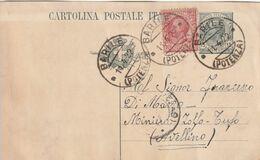 Barile. 1922. Annullo Guller BARILE (POTENZA), Su Cartolina Postale, Con Testo - Marcophilie