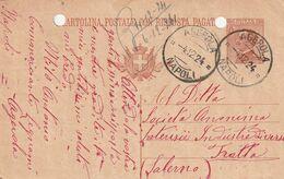 Agerola. 1924. Annullo Guller AGEROLA *NAPOLI*, Su Cartolina Postale, Con Testo - Marcophilie