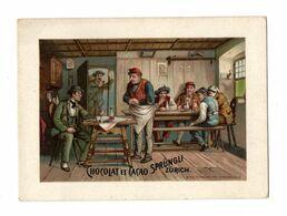 Chromo Chocolat Linth & Sprüngli, Zürich, Suisse, Chez Les Paysans, Env. 9,5 X 7 Cm - Cioccolato