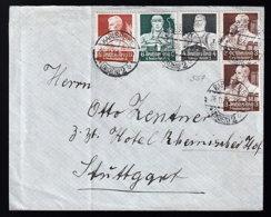Deutsches Reich 556 U. A. Auf Brief - Usados
