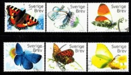 Mi.3159-64  Scandinavian Butterflies   037 - Gebruikt