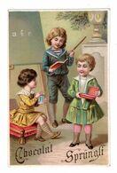 Rare Chromo Chocolat Linth & Sprüngli, Zürich, Suisse, Enfants à L'école - Cioccolato
