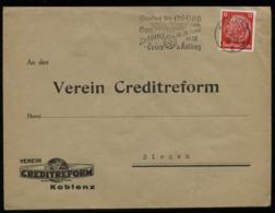 WW II Briefumschlag: Gebraucht Mit NSDAP Werbestempel Gautag,Koblenz - Siegen 1936 , Bedarfserhaltung. - Germany