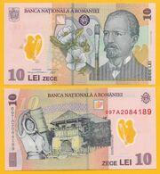Romania 10 Lei P-119 2009 UNC Polymer Banknote - Rumania