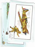 """Lot 29 CHROMOS """"TINTIN""""- Série AVIATION-VOIR Et SAVOIR Par Hergé-Collection Du Chèque TINTIN- TRES BON ETAT-(33 SCANS) - Autres"""